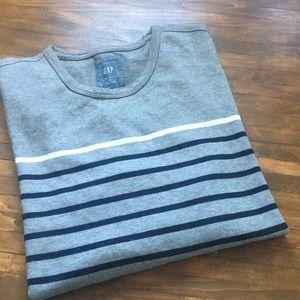 Gap Breton striped gray sweater